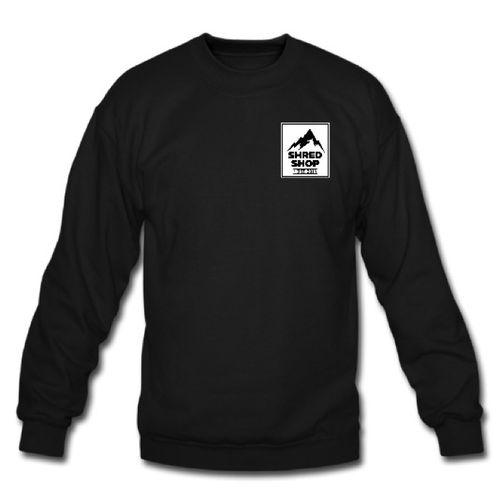 Shred Shop Mountain Logo Crew Neck Sweatshirt