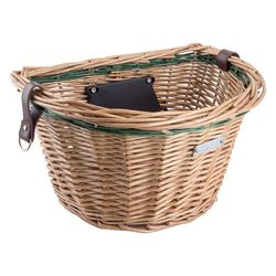 Avenir Large Wicker Bike Basket with Quick Release Mount