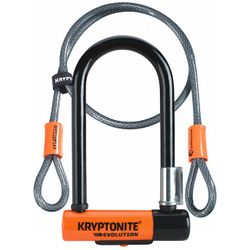 Kryptonite Evolution Kryptolok Mini U-Lock with Cable