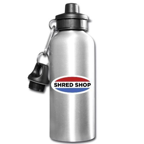 Shred Shop Logo Aluminum Water Bottle