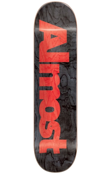 Almost Ultimate Logo R7 Black Skateboard Deck