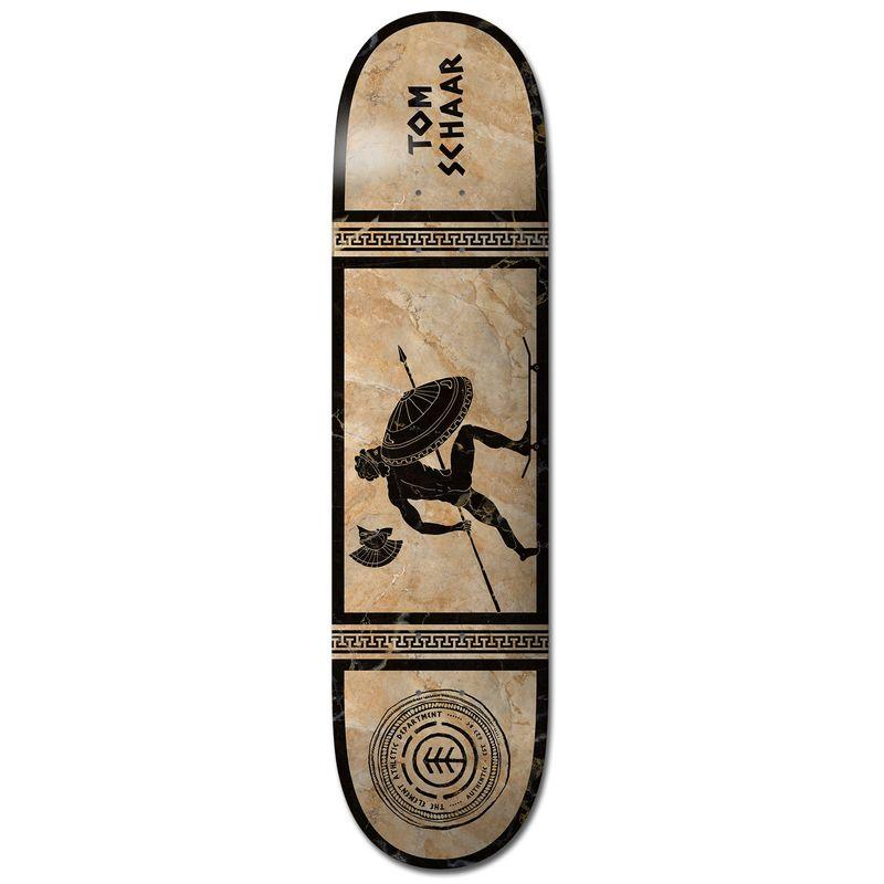 Element-No-Pain-No-Gain-Greek-Gods-Schaar-8.2-Inch-Skateboard-Deck