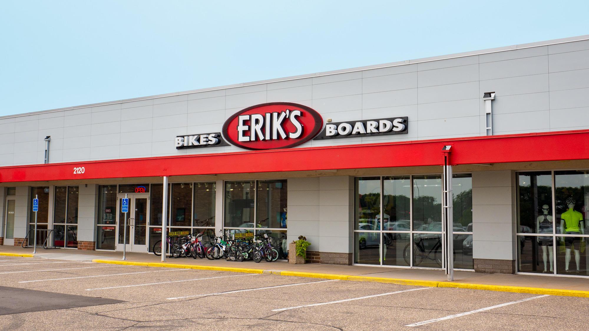 Coon Rapids Eriks bike shop bike storefront