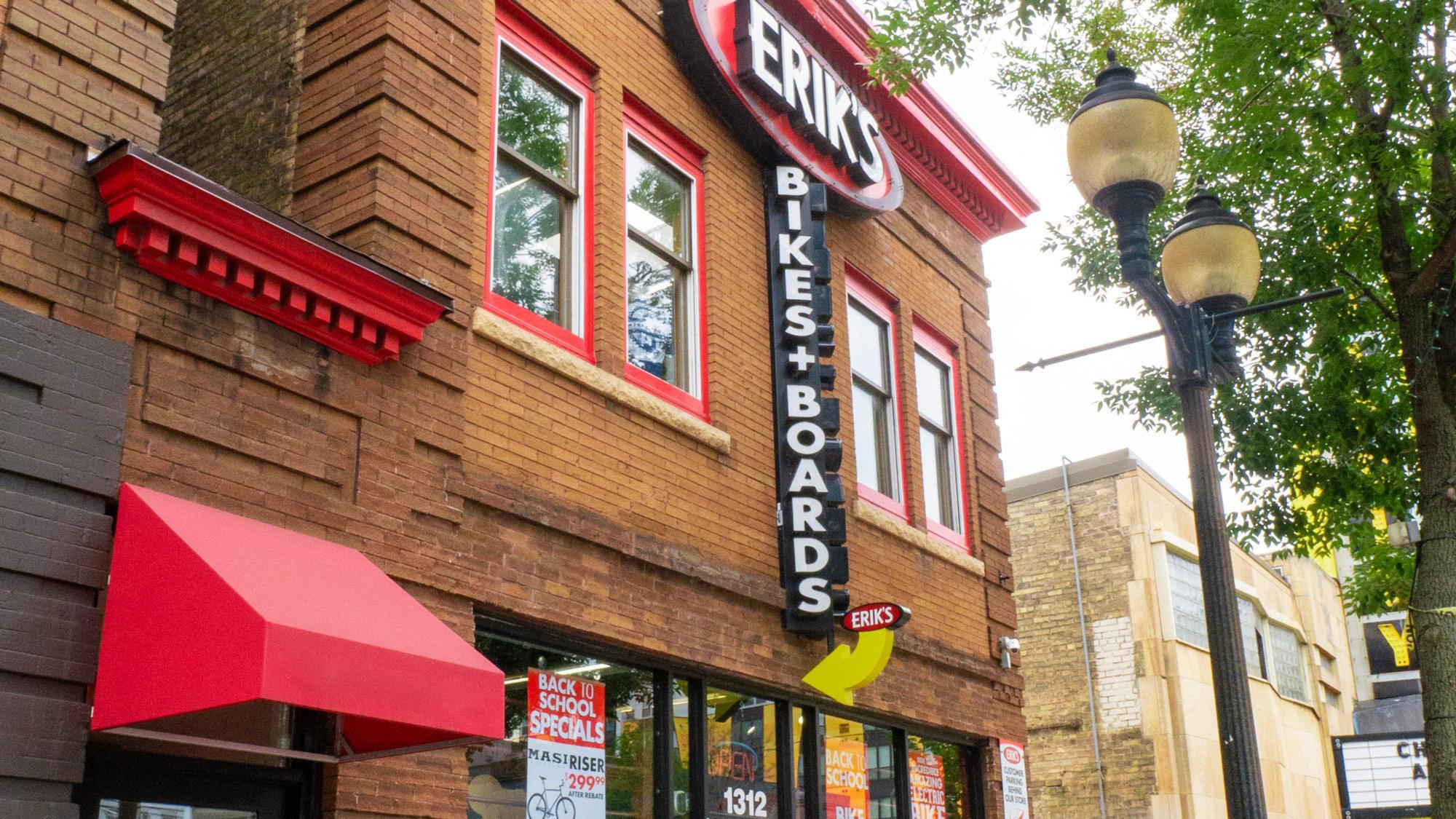 Minneapolis Dinkytown Eriks bike shop storefront