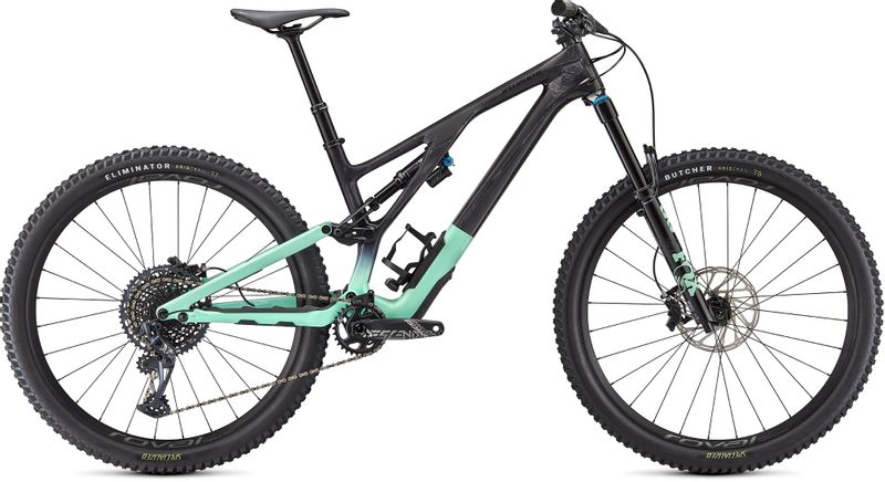 Trail Mountain Bike in Black with mint green