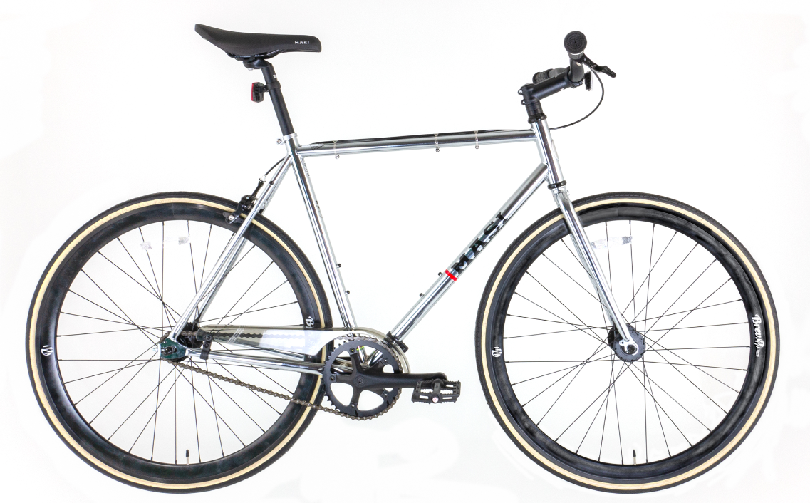 Masi Rider Single Speed Road Bike in Chrome