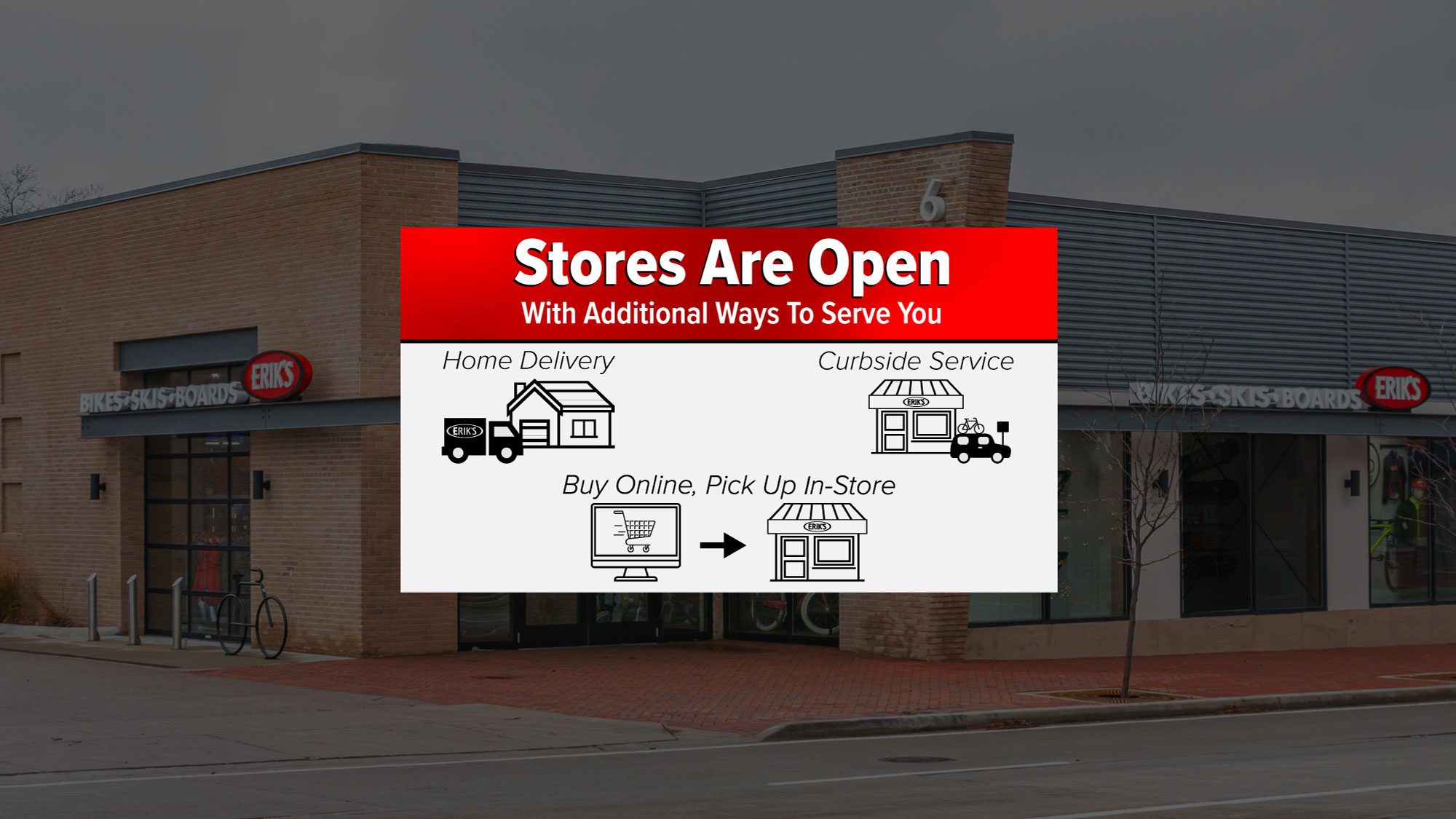 Stores are open!