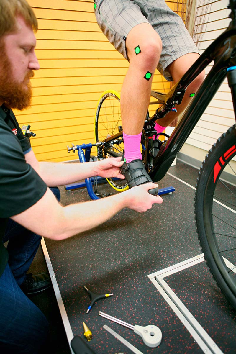 Bike Fitter using Body Geometry Bike Fit Style to Adjust Shoe and Cleat Position