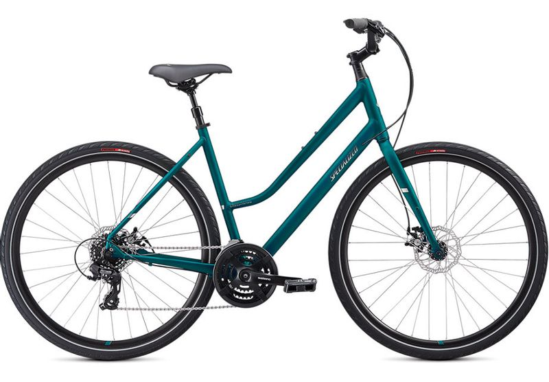 Specialized comfort bike in teal