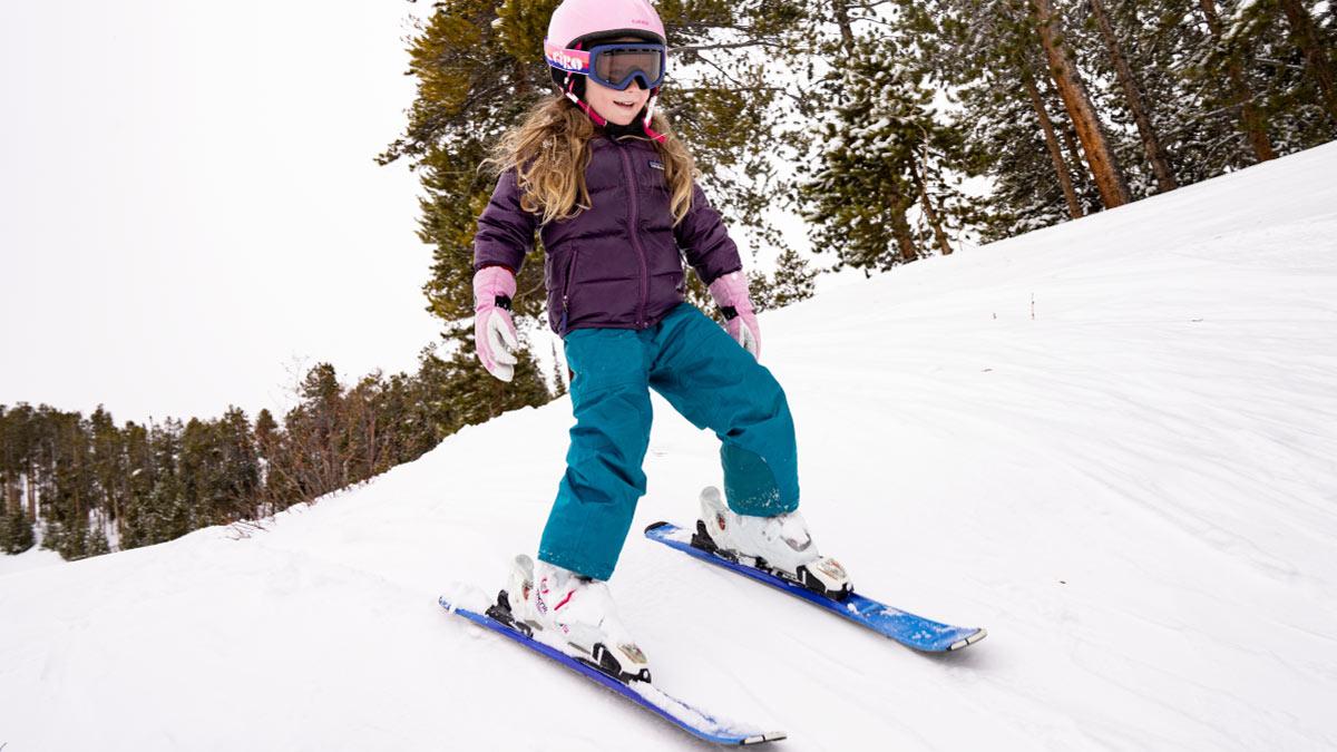 Girl Skiing at Ski Hill