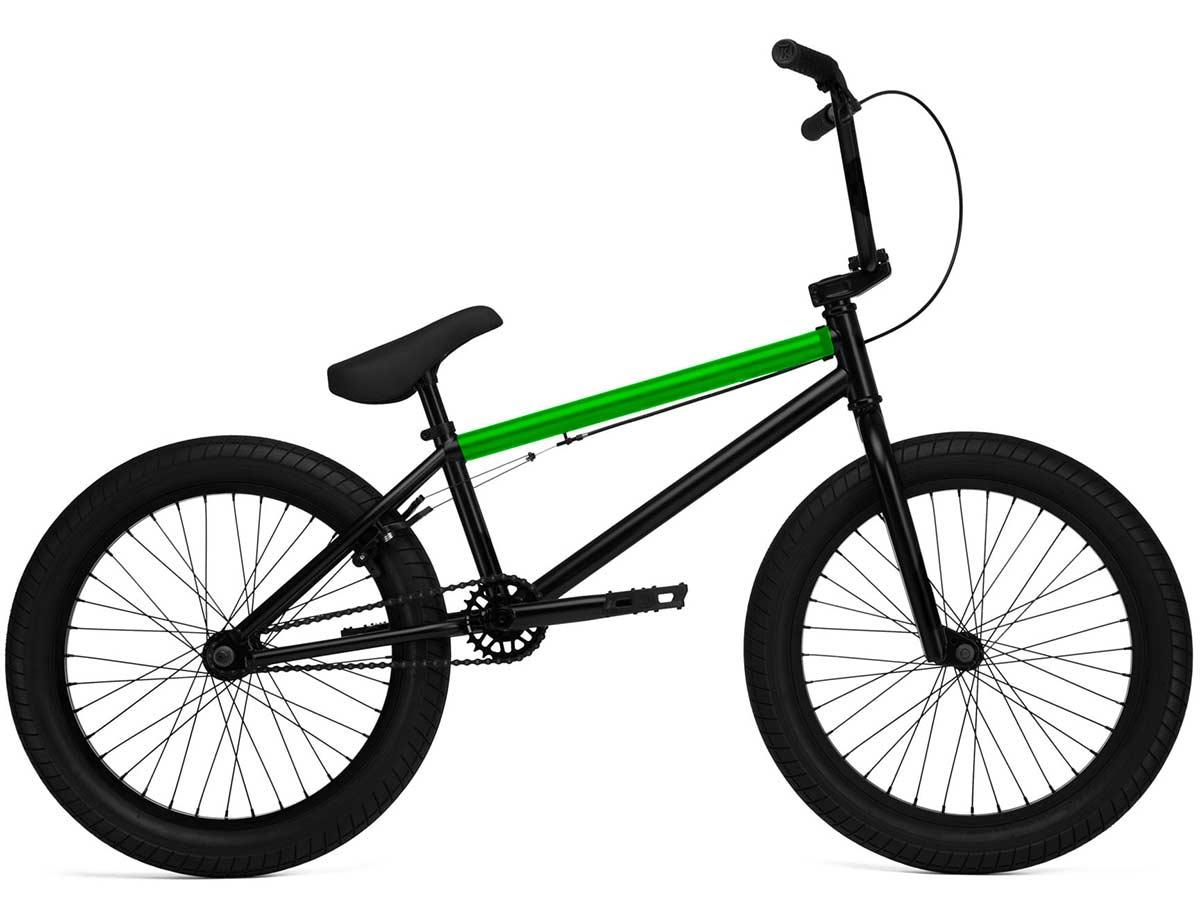 Black BMX Bike with green top tube